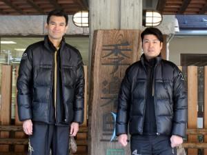 植田監督と大竹選手(横)